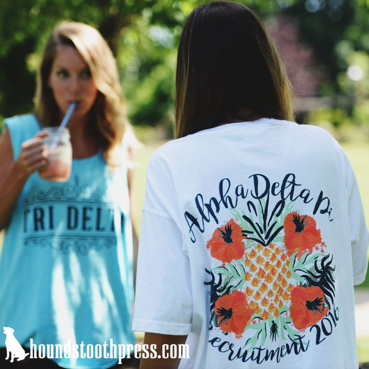 Alpha Delta Pi Recruitment Shirt | #LoveTheLab houndstoothpress.com | Fraternity…