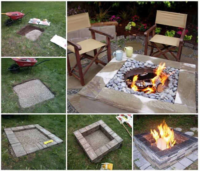 17 best ideas about square fire pit on pinterest for Do it yourself fire pit designs