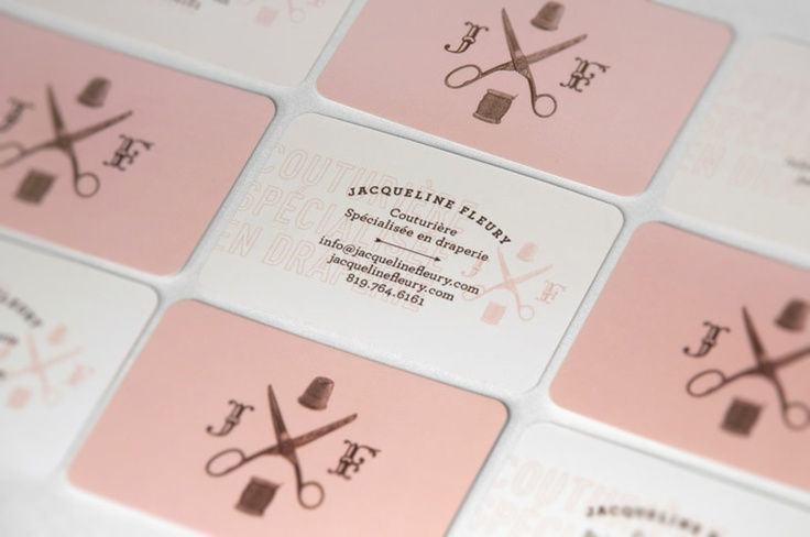 Retro style business cards by Sylvain Toulouse