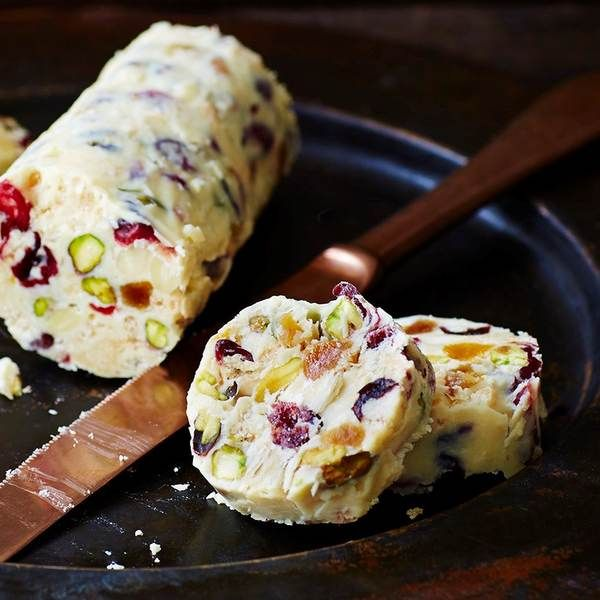 White chocolate salami