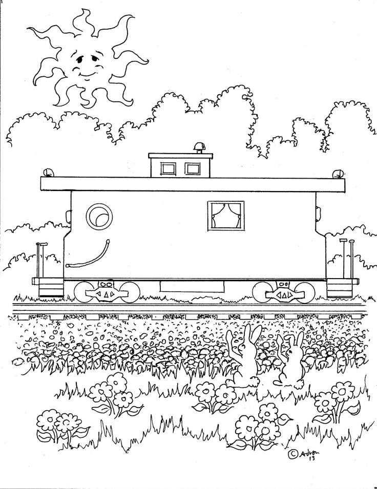 train caboose coloring pages printable - photo#27