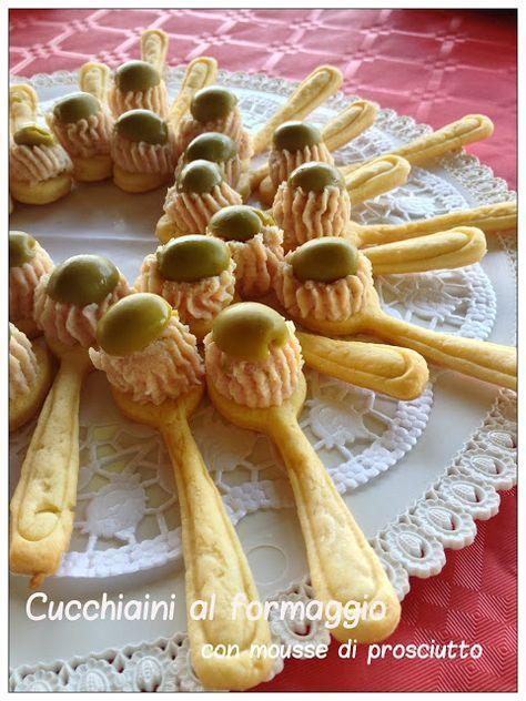 Vivi in cucina: Cucchiaini al formaggio con mousse di prosciutto cotto - Bimby