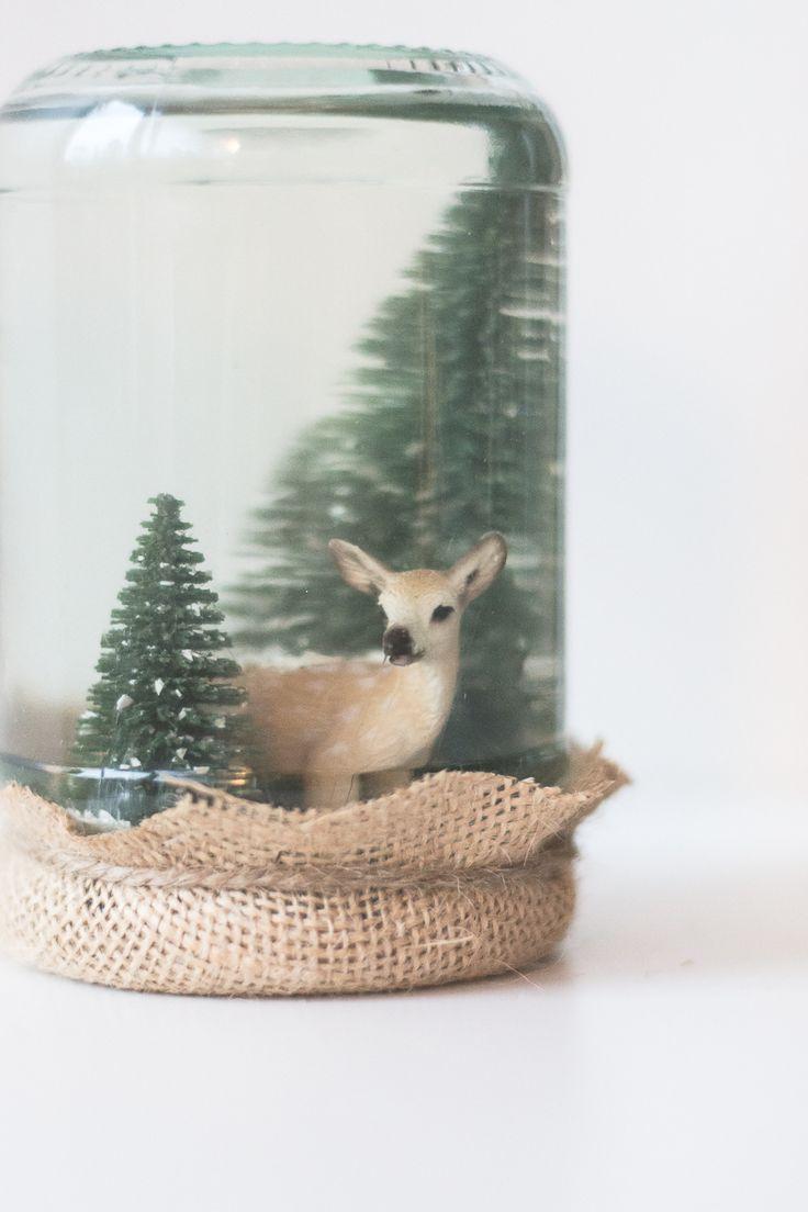 DIY Snow Globe // DIY Lumisadepallo Christmas xmas DIY