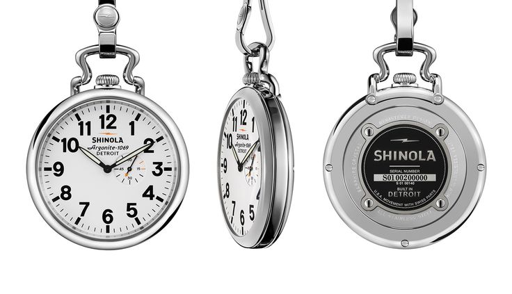 THE RUNWELL POCKET WATCH #Shinola