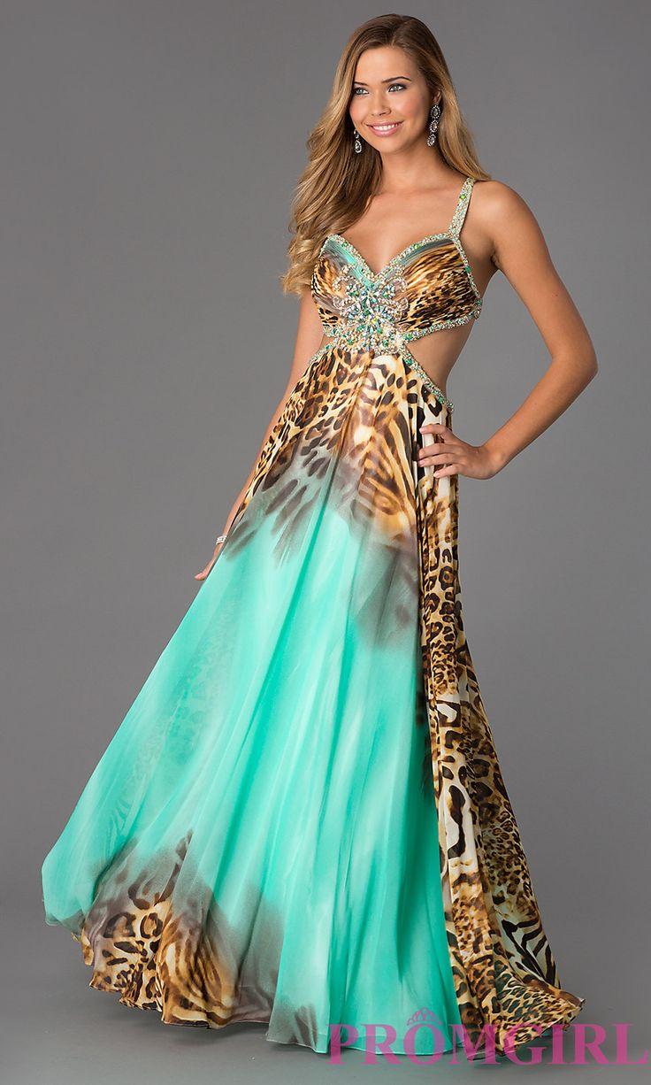 La Femme One Shoulder Animal Print Prom Dress 14999 at frenchnovelty ...