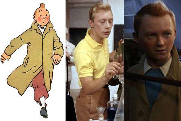 Tintin par Hergé, Tintin interprété par Jean-Pierre Talbot en 1961 et 1964, Tintin dans le film d'animation de Steven Spielberg