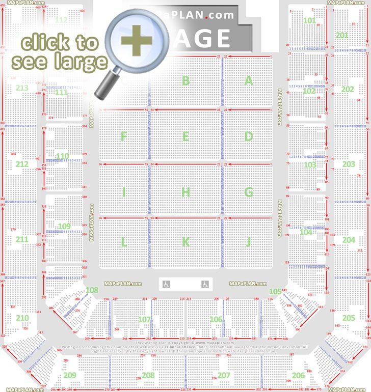 detailed seat numbers layout zitplaatsen geplaceerd stoelnummers rijen vakken nummers eerste tweede ring sectie zaal plattegrond Amsterdam Ziggo Dome seating plan