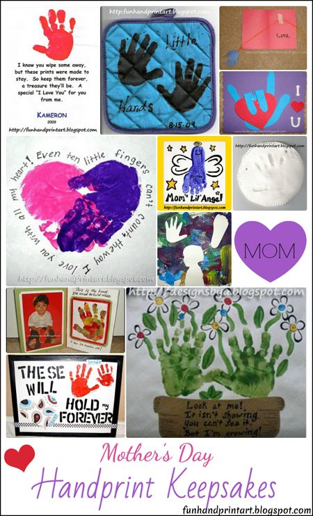 Mother's Day Handprint Art Keepsakes