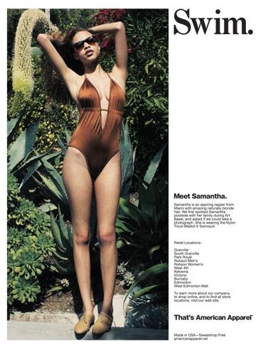 American Apparel Swimsuit.