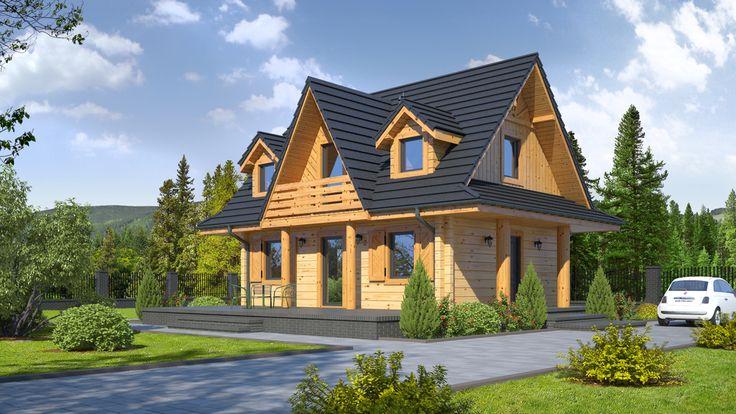 Projekt domu DP gaik 5dw - DOM PK7-24 - gotowy projekt domu