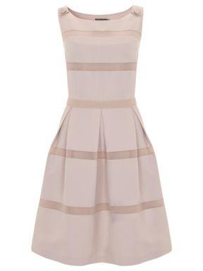 Mint Velvet Stone stripe 50s dress Multi-Coloured - House of Fraser