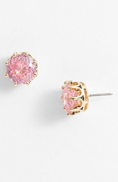 Juicy Couture 'Ocean Couture' Oversized Solitaire Stud Earrings | Nordstrom: Jewelry Pink Juicy Couture, Pink Earrings, Solitaire Studs, Stud Earrings, Ocean Couture, Juicy Couture Earrings, Oversized Solitaire, Couture Ocean, Juicy Couture Studs Earrings