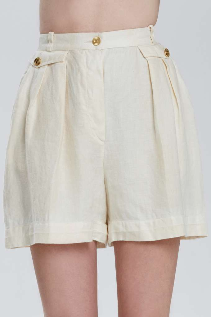 Classic Chanel Carvel Linen Shorts – Bottoms | Chanel | Garments | All | Classic …