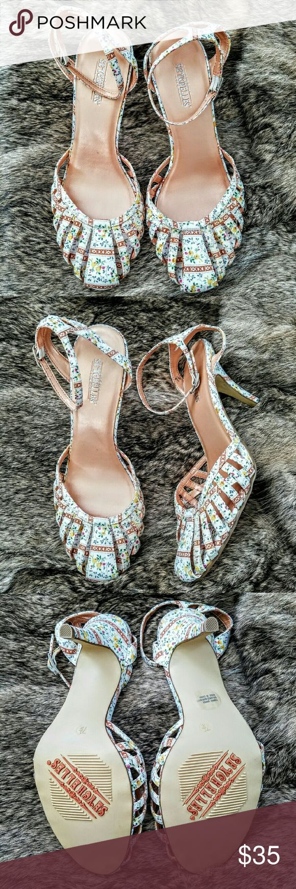 Seychelles High Heel Shoes - NWOT These high heels from Seychelles have a beautiful floral fabric upper! These are new without tags and have only been worn to be tried on. Excellent condition! Size 7.5. The heel measures approximately 3 inches. Seychelles Shoes Heels