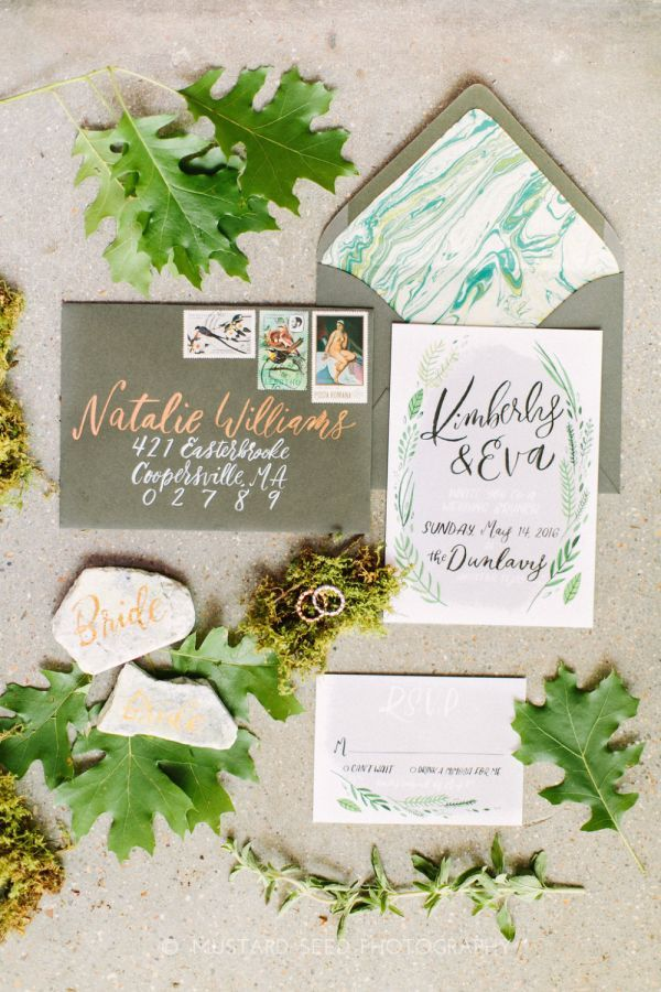custom wedding invitations nashville%0A Completely customized for each couple  Hey Bernadette u    s playfully elegant  invitation suites feature handpainted