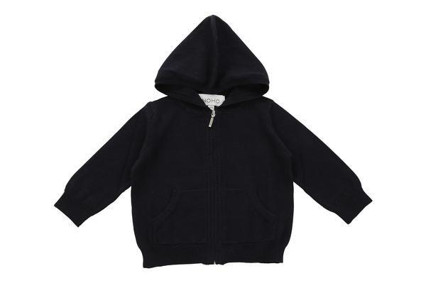 cotton cashmere navy blue baby hoodie