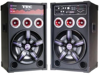Caixa de Som Amplificada TRC com Bluetooth 500W - Entrada USB/SD - Radio FM e Microfones Inclusos com as melhores condições você encontra no Magazine Sualojaverde. Confira!