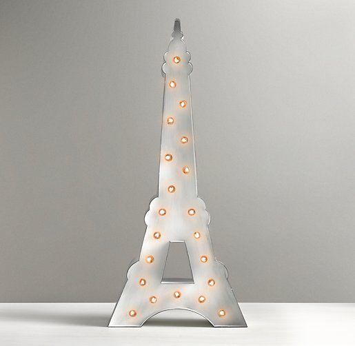 Vintage Illuminated Eiffel Tower