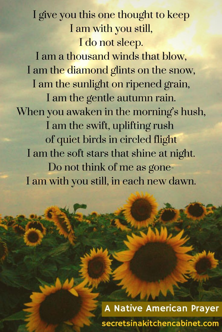 This poem was the dawning of my healing after my father's too early death from a out-of-the-blue autoimmune illness called pulmonary fibrosis. There were things that happened around the time of reading this poem that made me become deeply aware that he is with me always.