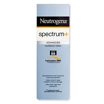 Top 15 Sunscreens - Neutrogena Spectrum and sunblock lotion SPF 55 - Best for Oily Skin