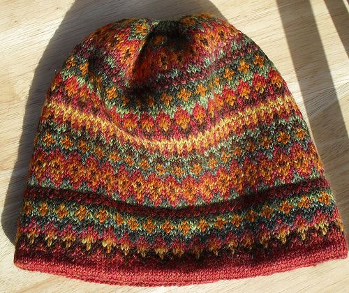 Knitting - Handspun Waterville Hat via Flikr ~ click thru to Pats knitting weaving blog and you will find info and pics, plus link to Webs for pattern