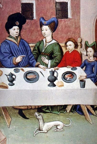 Detail, Boccaccio, The Decameron , Flanders, 1432 Paris, BnF, Arsenal 5070 manuscript fol. 387