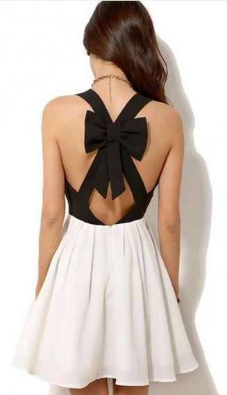 A-line Back Hollow-out Dress