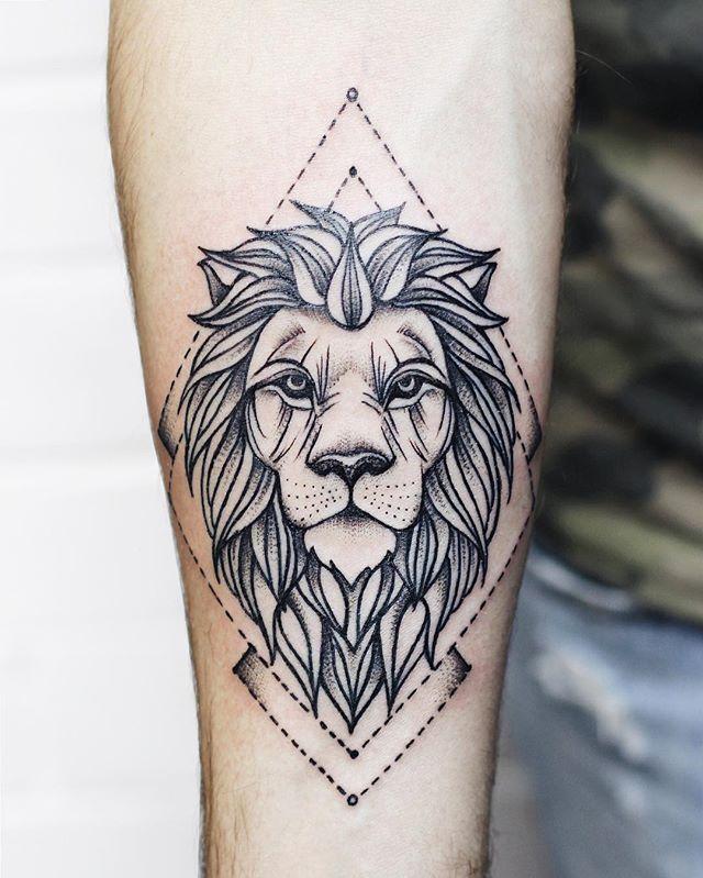 Resultado de imagem para lion tattoo tumblr