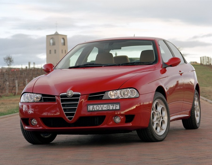 Here we have the very good, if more aggressive, looking Giorgetto Giugiaro facelifted 156 from 2004. A very successful restyle, but I've always liked the Phase II best.    http://www.italiancar.net/site/FACTfiles/alfa/alfa156/picts_big/Alfa1562004_V6manual_01_lg.jpg