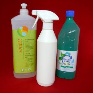 Duurzaam schoonmaken #3 - Allesreiniger. Goedkope, ecologische, milieuvriendelijke, milieubewuste allesreiniger: azijn, water, afwasmiddel. that's it!