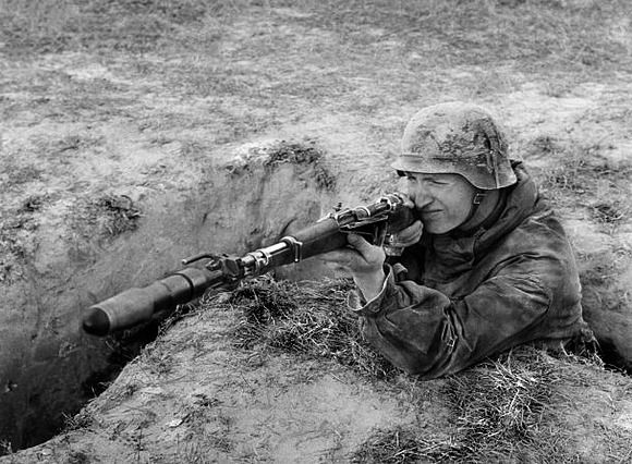 Image result for german soldier with 98k rifle grenade