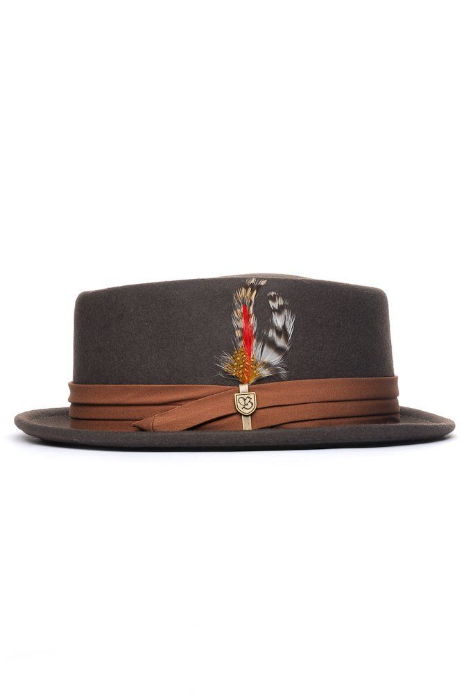 Porkpie Hats have been around since the midcentury and keep coming back. add a #MagTak to your hat