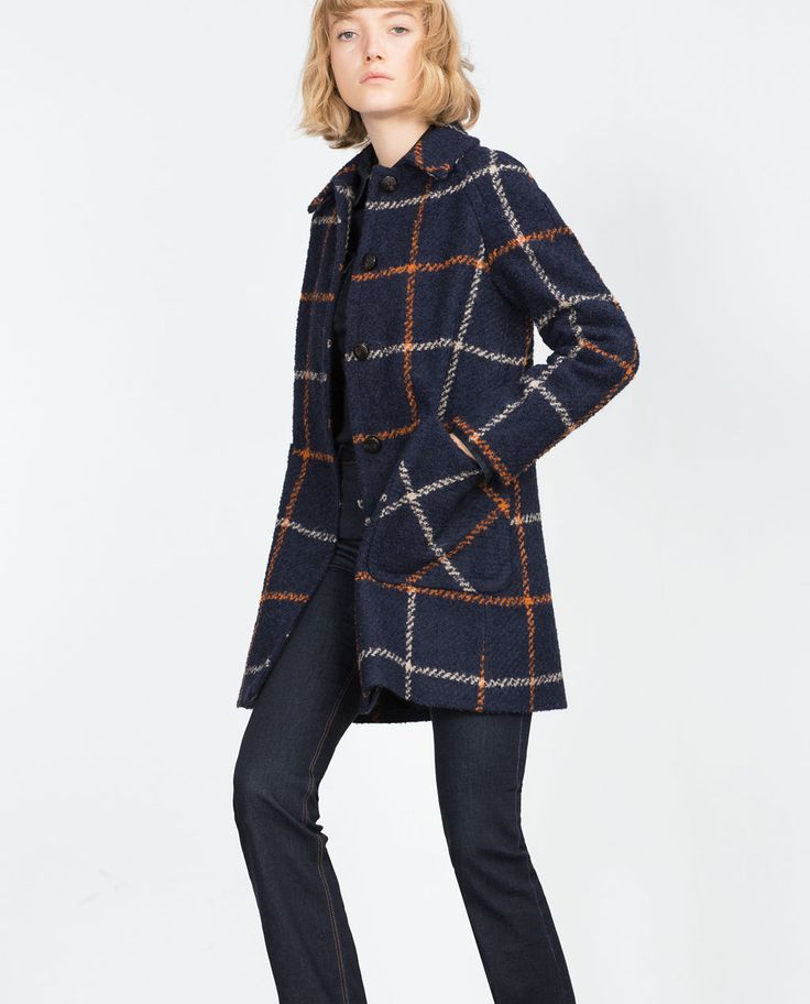 Manteau laine bouillie femme zara