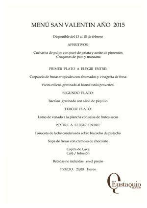 Pasa una velada romántica con nosotros con este maravilloso menú http://www.calameo.com/read/00297495070a40841223f ¡Nosotros te ayudamos a empezar la noche, lo demás dependerá de vosotros! #SanValentín #Cáceres