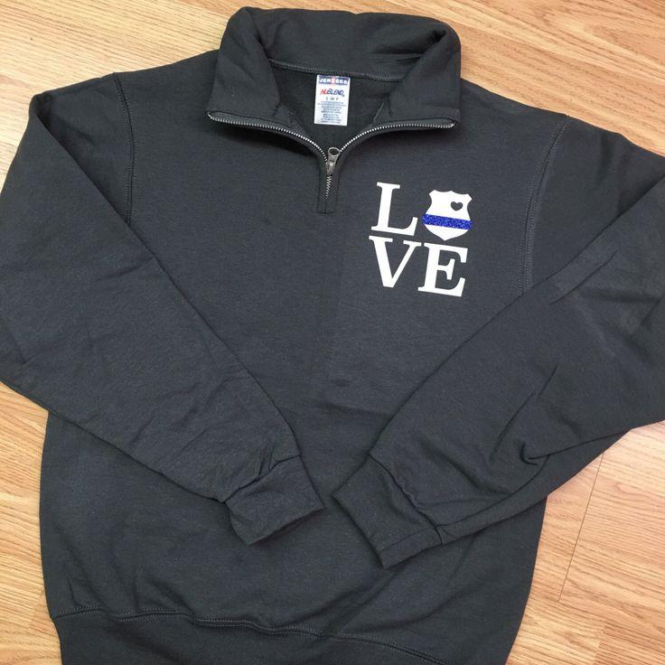 Monogrammed Quarter Zip Sweatshirt. Police Wife Pullover. Police Wife Sweatshirt. Quarter Zip. Police. Support The Badge. Pullover. by ElleQDesigns on Etsy https://www.etsy.com/listing/487203275/monogrammed-quarter-zip-sweatshirt