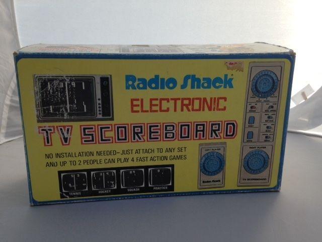 Radio Shack Electronic TV Scoreboard Tennis, Hockey, Squash. #RadioShack