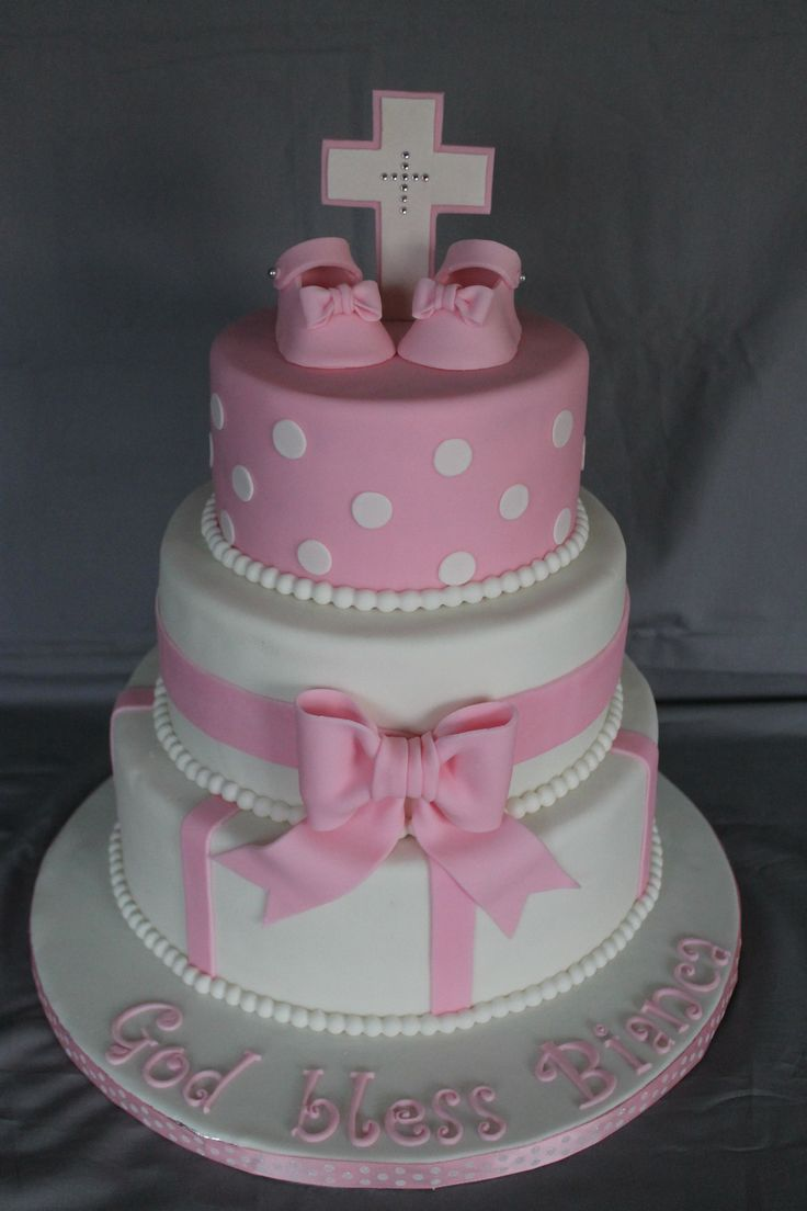 Baptism cake for a girl!