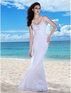 Lanting Bride® Åtsmitande Äpple Timglas Omvänd triangel Fröken Päron Petite Plusstorlekar Rektangulär Brudklänning - Chic och modern