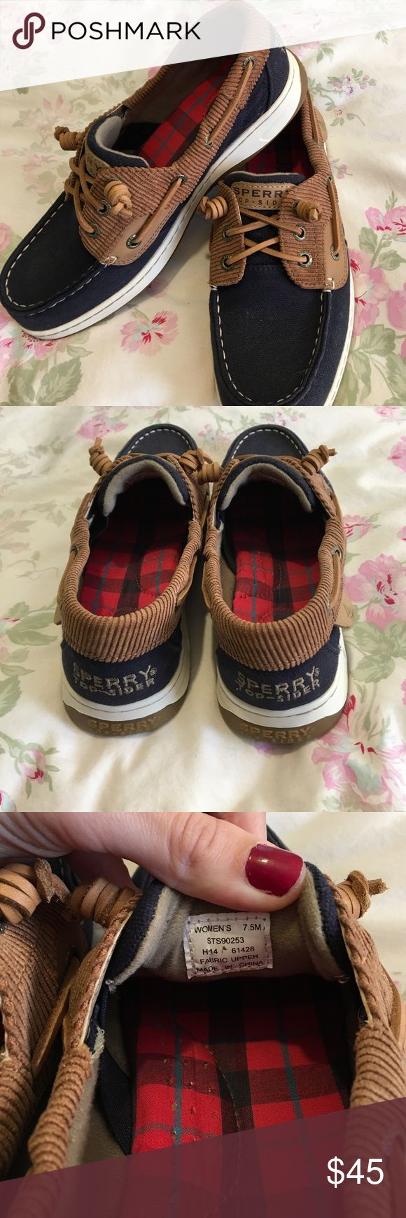 Blue Sperry Top-Siders NWOT Blue canvas Sperry top-sider shoes. These are a size 7.5. Super cute shoes that need a home where they will be loved🙂❤️ Sperry Top-Sider Shoes Flats & Loafers