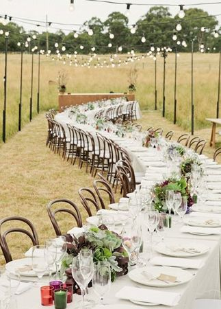 Love this long snaking table