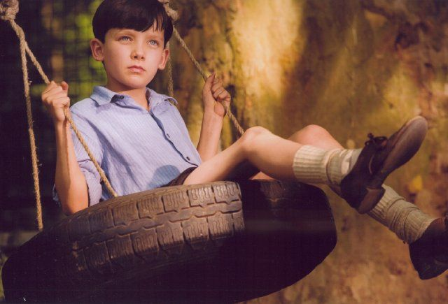 Asa Butterfield as Bruno in the boy in the striped pajamas