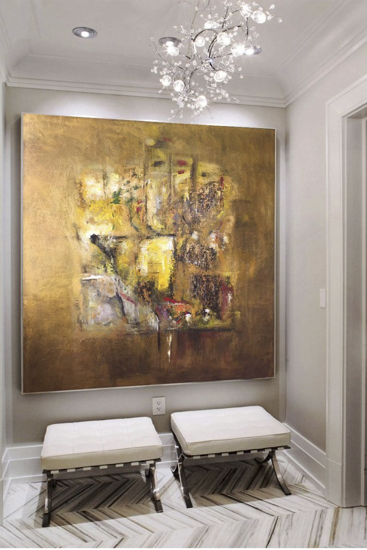 Artistas Latinoamericanos Abstractos Art Home Decor Golden Art Gold Abstract Painting Abstract
