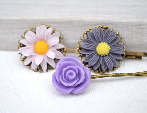 Mother dayViolet lilac purpleresin flower by artemisartdesign, $14.00