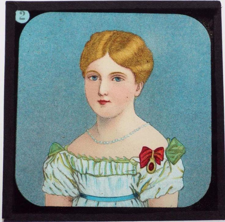 Life of Queen Victoria - 11 x Antique Magic Lantern Slides c1905