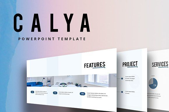 CALYA Powerpoint Template by Maspiko on @creativemarket