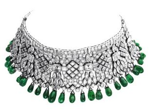 Van Cleef and Arpels -choker formed from two bracelets. previously owned by Daisy Fellowes