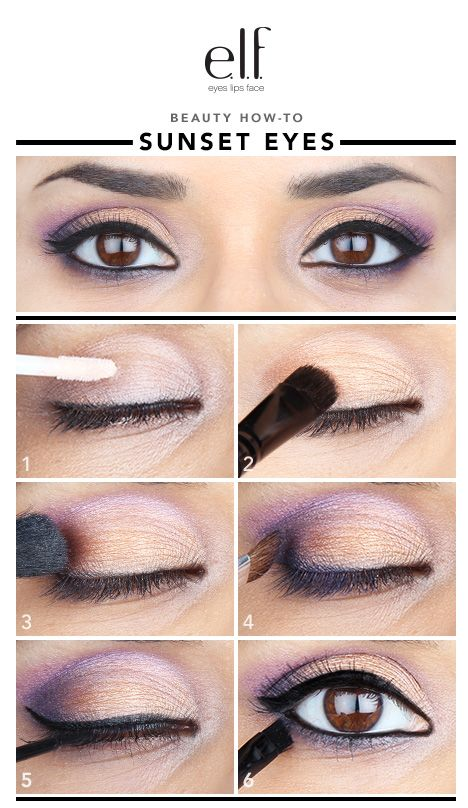 """Summer is almost over elfettes! It makes me sad! So I thought we should get our eyes packed full of sunset colors that remind us of this gorgeous weather and the beautiful sky. E.l.f. Cosmetics has so many sweet shades of eyeshadow and it was so hard to choose! Luckily I found an all-in-one Beauty Book, in """"cool,"""" to use for the shadows."""