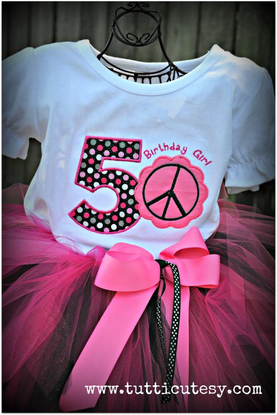 Peace sign Birthday Shirt by tutticutesytutus on Etsy, $28.00