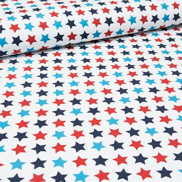 Bawełna 100% GWIAZDKI marine style - mcolors - Materiał w paski