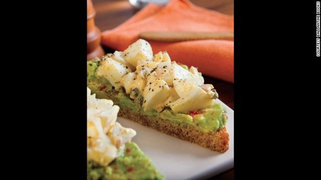 Avocado Toast ¼ avocado Pinch of paprika ½ teaspoon freshly squeezed lemon juice 1 slice whole-wheat or Ezekiel bread, toasted 4 hard-boiled large egg whites, chopped 1 ½ teaspoons finely diced shallots 1 teaspoon Dijon mustard ½ teaspoon capers, rinsed and coarsely chopped Dash of freshly ground black pepper